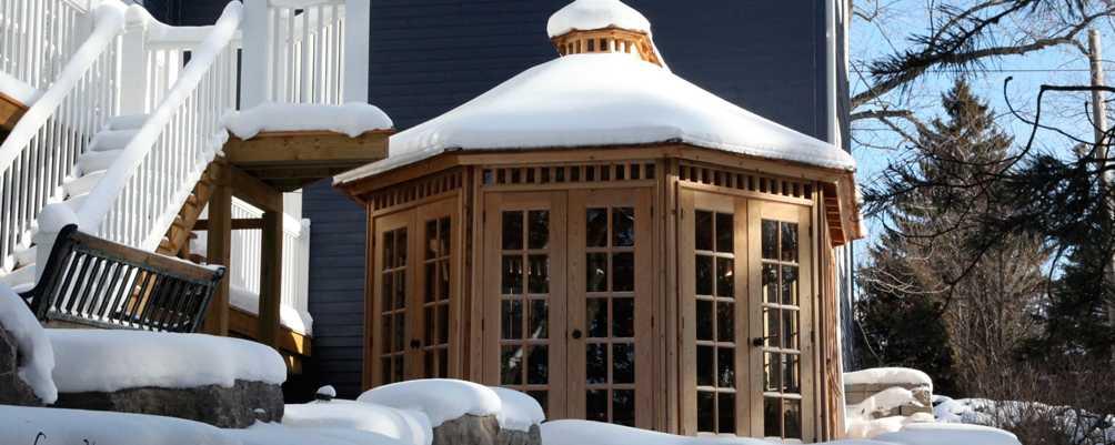 Hot tub gazebo plans true north for Hot tub gazebo plans