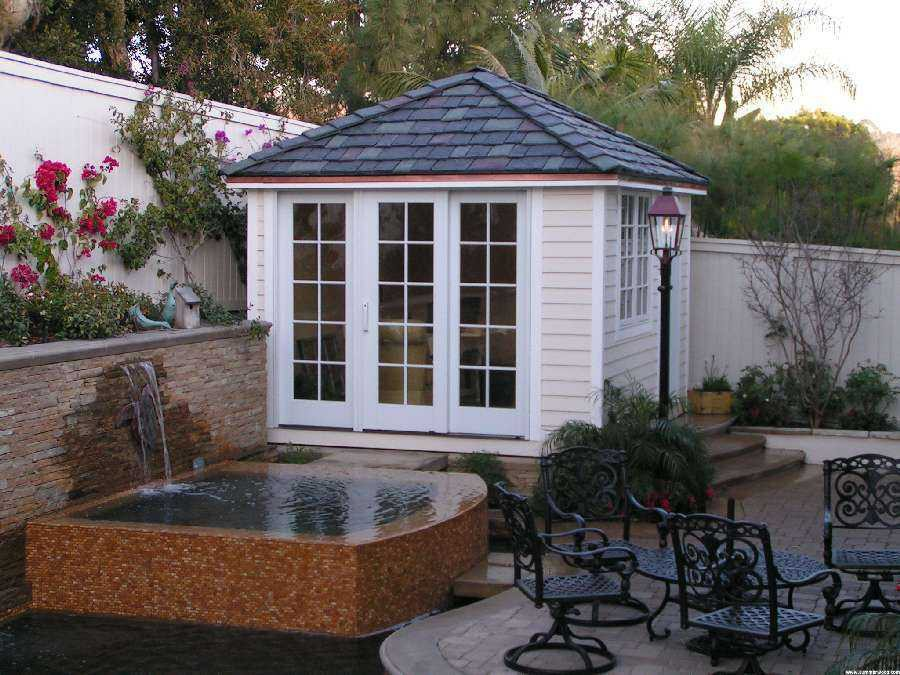 Sonoma pool cabana plans
