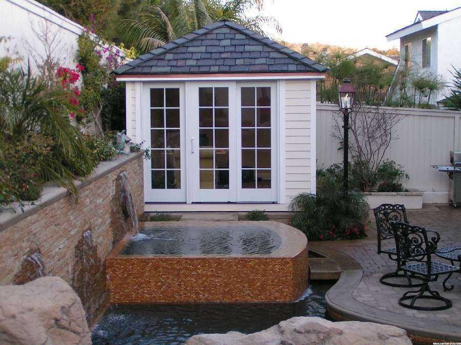 Sonoma pool house plans