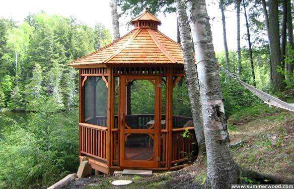 Monterey gazebo design 10' in Indiana left side3. ID number 2705