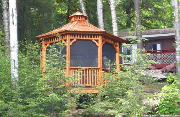 Monterey gazebo design 10' in Indiana front1. ID number 2705
