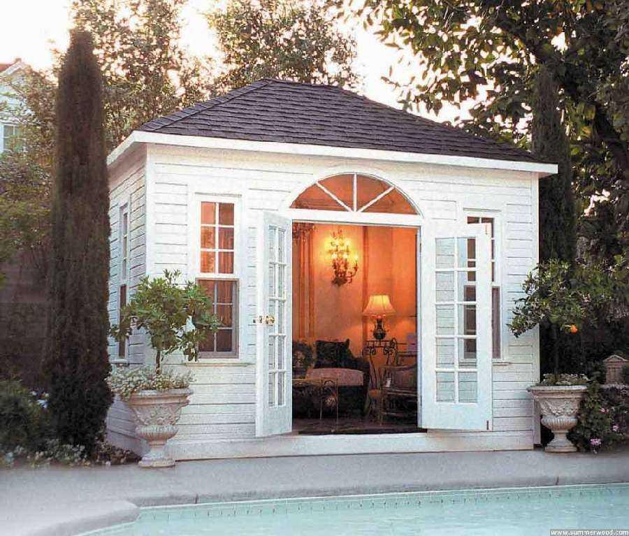 Cabana Pool House Designs Plan: Sonoma Elegant Pool Cabana Design In A Backyard