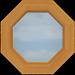 C7-A Small Octagonal Clear Window