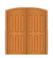 DD5 Solid Deluxe Arched Double Doors
