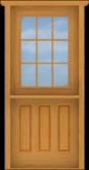 DU6 Deluxe Dutch 9-Lite Single Door