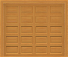 GD200 - Plain Raised Panel Mahogany Garage Door