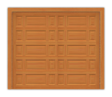 GD201 - Mixed Raised Panel Mahogany Garage Door