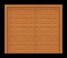 GD201 - Mixed Raised Panel Mahogany Garage Door
