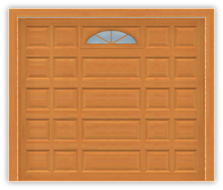 GD203 - Mixed Panel Single Window Mahagony Garage Door