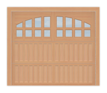 GD501R - Raised Panel Coach Style Garage Door 501