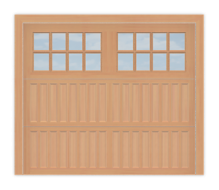 GD502R - Raised Panel Coach Style Garage Door 502