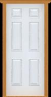 "Metal Deluxe Solid Single Door (White Polytex Coating, 34""W)"