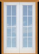 "Metal French 10-Lite Single Door (Polytex Coating, 25""W)"