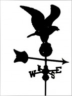 Black Al. Eagle Weathervane outdoor shed hardware