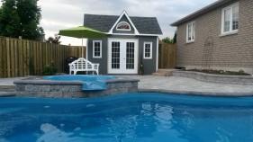 Medium Copper Creek pool house plans