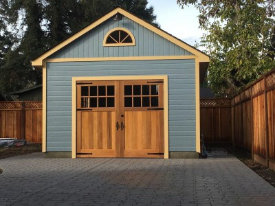 highlands garage plans 14' X 20 with scotia blue sidings as seen from front .ID number 243530.1 jpeg