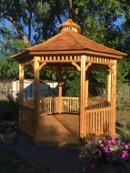 backyard 10' Monterey Gazebo built with True North Plans. ID number-254666- 3