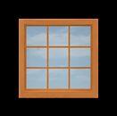 W10 9-Pane Picture Window