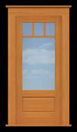 """Arts & Crafts 3-Lite/1-Pane Single Door (37 1/2""""W)"""