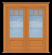 Arts & Crafts Double Doors