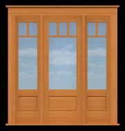 "Arts & Crafts Single Door with Windows (82 1/2""W)"