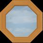 C7-B Large Octagonal Clear Window