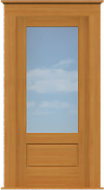 "Contemporary 1-Pane Single Door (37 1/2""W)"