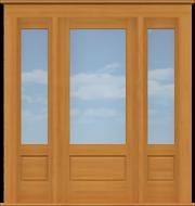 """Contemporary Single Door with Windows (82 1/2""""W)"""