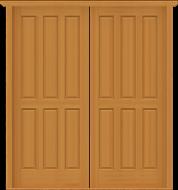 DD7 Full-size Double Solid Deluxe Doors