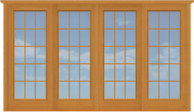 DSDD8 Sliding Full Sized Double French Doors