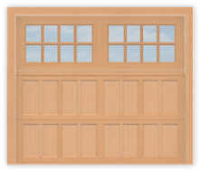 GD508R - Raised Panel Coach Style Garage Door 508