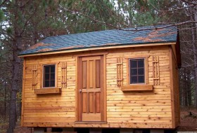Kepler creek 16x24 cabins with opening window in Menahga Minnesota. ID number -241936-1