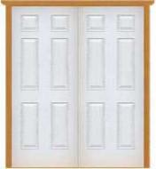 """Metal Deluxe Solid Double Doors (Polytex Coating, 68""""W)"""