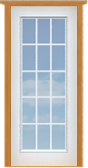 "Metal French 15-Lite Single Door (Polytex Coating, 34""W)"