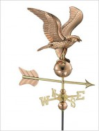 Copper Eagle Weathervane outdoor shed hardware