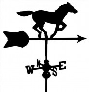 Black Al. Horse Weathervane outdoor shed hardware
