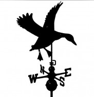 Black Al. Duck Weathervane outdoor shed hardware