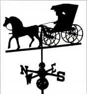 Black Al. Country Weathervane outdoor shed hardware