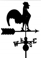 Black Al. Rooster Weathervane outdoor shed hardware