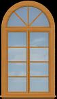 P8 Arched Casement Window