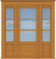 "Traditional Single Door with Windows (82 1/2""W)"