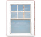 WV-C1B Single Hung Window (Top Grills Only)