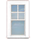 WV-C2B Single Hung Window (Top Grills Only)