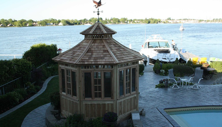 Lakeside Wood Gazebo